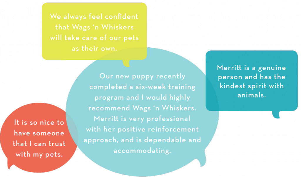 Hear what our Birmingham, Alabama clients have to say!  'We always feel confident that Wags 'n Whiskers will take care of our pets as their own.',  'It is so nice to have someone that I can trust with my pets.'